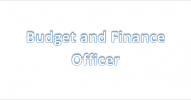Budget and Finance Officer