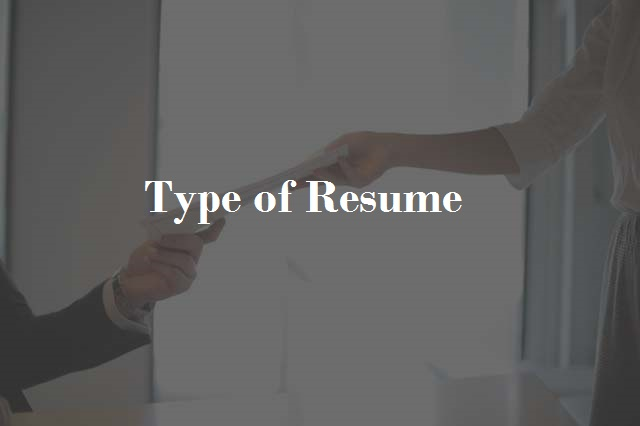 type-of-resume