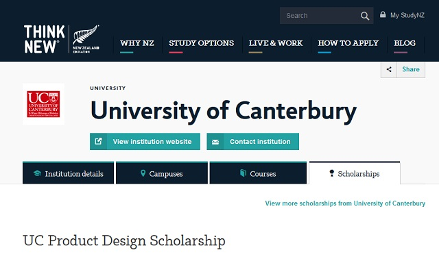 Top-10-Study-Abroad-Bachelor-Product-Design-University-of-Canterbury-Scholarship